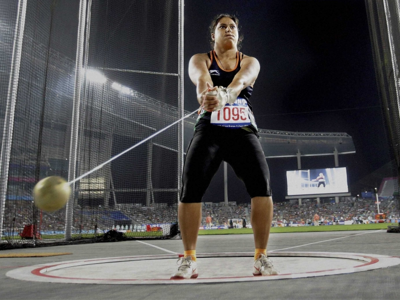 Manju Bala In Action In The Women's Hammer Throw Competition