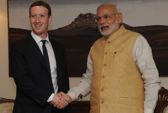 Mark Zuckerberg and Narendra Modi