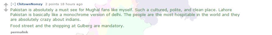 India-Pakistan Conversation on Reddit