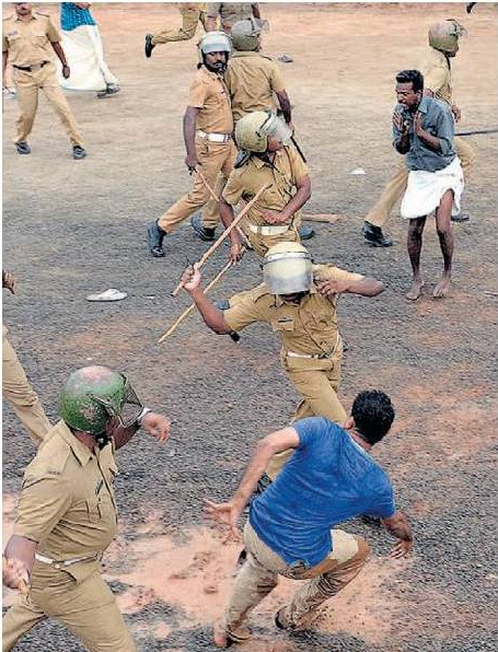 More lathi charge