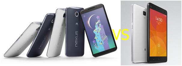 Nexus 6 vs Xiaomi Mi4