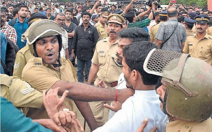 When police tried to remove opposers