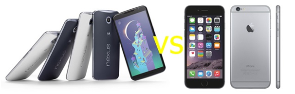 nexus 6 vs iphone 6
