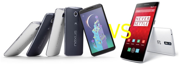 nexus 6 vs one plus