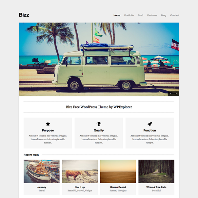 Bizz Business Theme