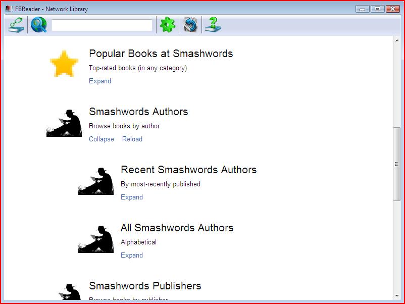 FBReader ebook reader for windows PC laptops