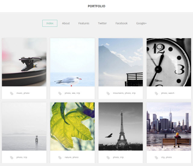 Portfolio theme by Gavik