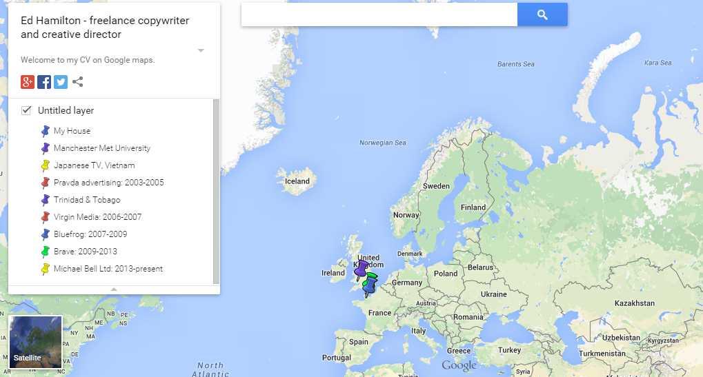 Google Maps Resume