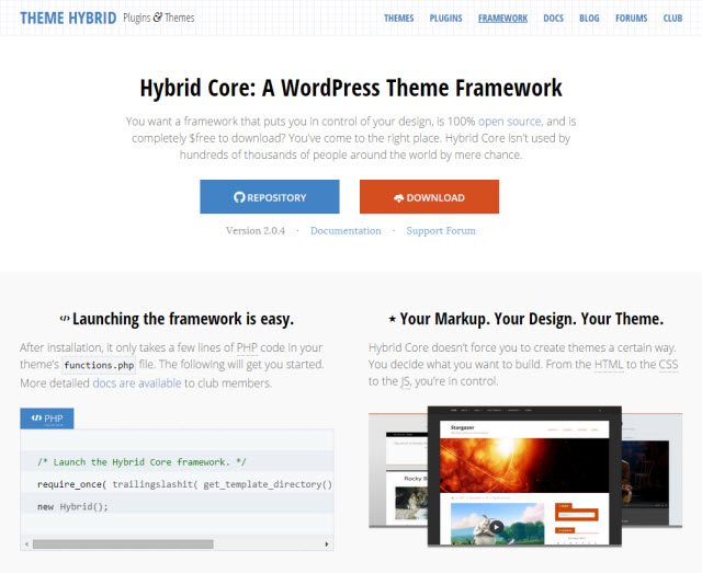 Hybrid core