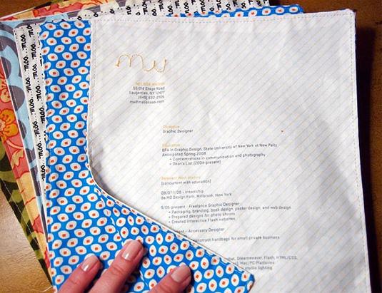 Sewn Fabric Resume