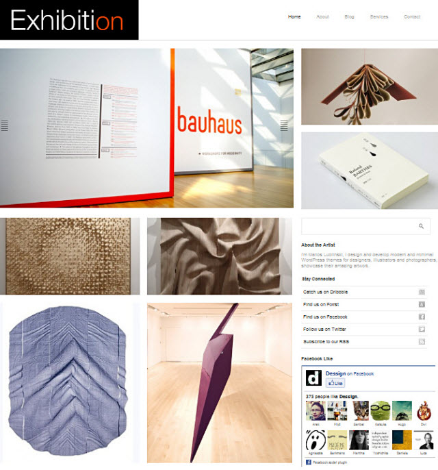 exhibition-wordpress-theme