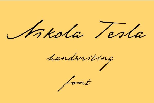 handwriting-fonts-tesla