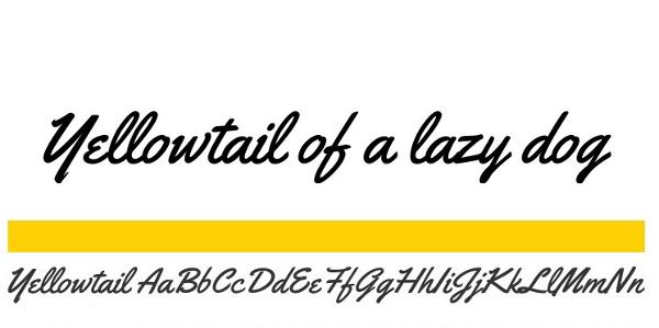 handwriting-fonts-yellowtail