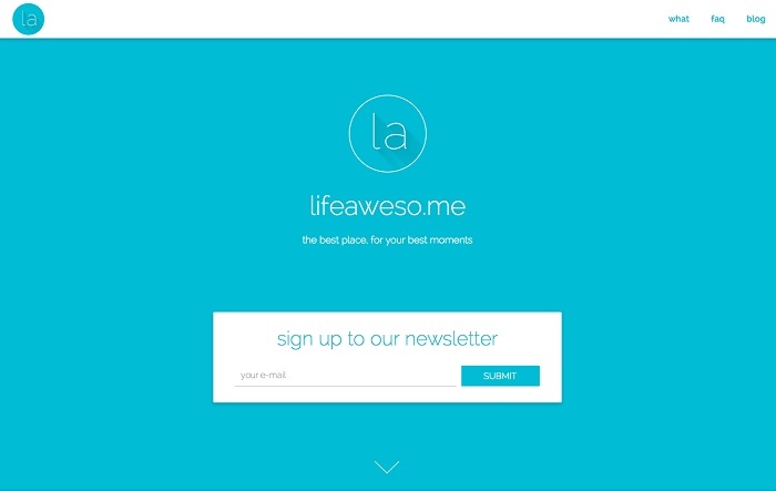 lifeawesome material design website