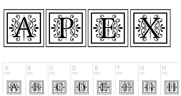 monogram fonts apexlake