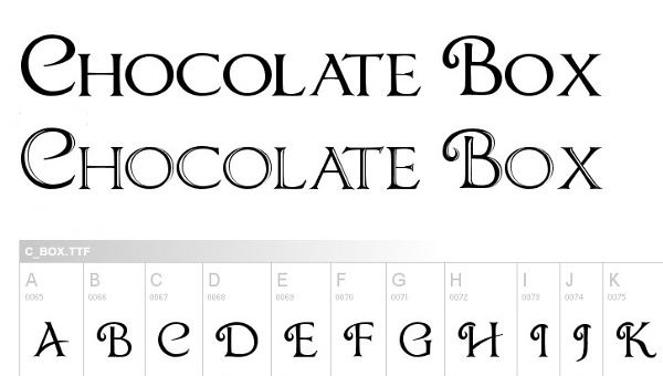 monogram-fonts-chocolatebox
