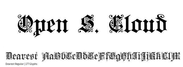 monogram-fonts-dearest