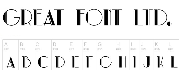 monogram fonts parklane