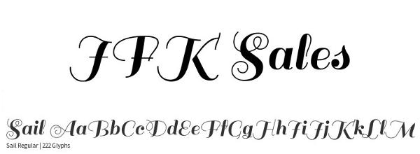monogram-fonts-sail