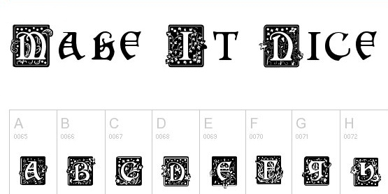 monogram fonts squarecaps