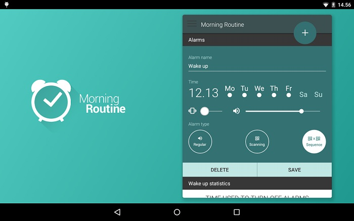 morning-routine android app