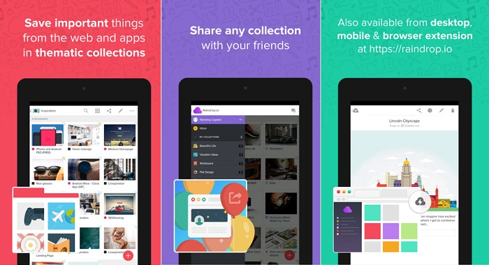raindrop material design apps for android