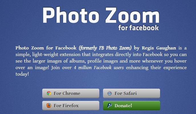 Facebook Photo Zoom