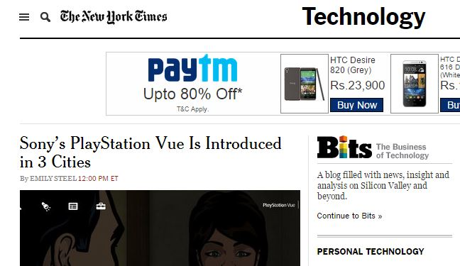 NY Times extension
