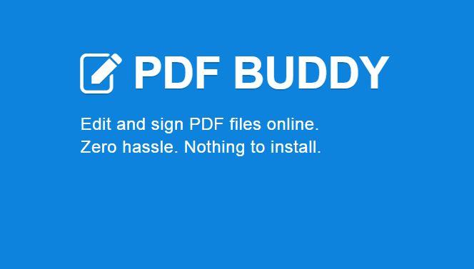 PDF Buddy 2015 best PDF editor tool