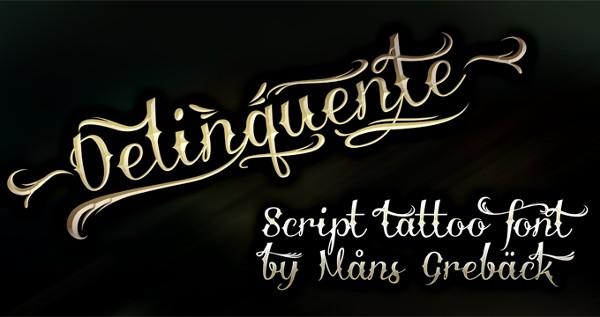 tattoo-fonts-delinquente