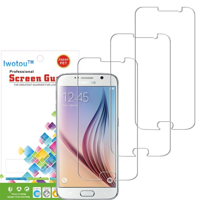 Iwotu HD Clear Screen Protector for Galaxy S6