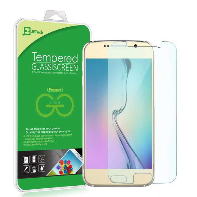 JETech Tempered Glass Screen Protector for Galaxy S6