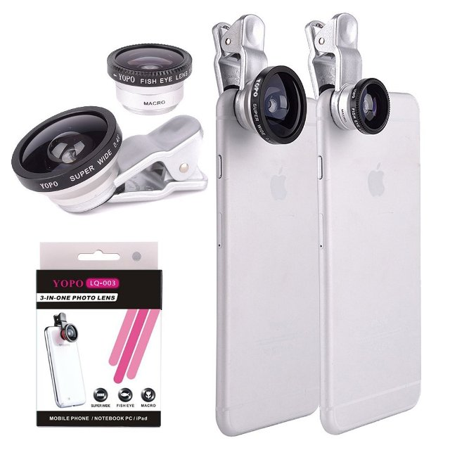 YOPO Universal 3 in 1 Clip-On Lens