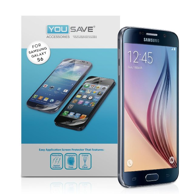Yousave Accessories Samsung Galaxy S6 Screen Protector