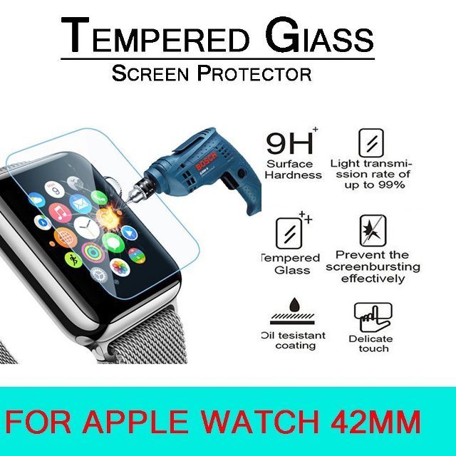 Anoke Tempered Glass Apple Watch Screen Protector