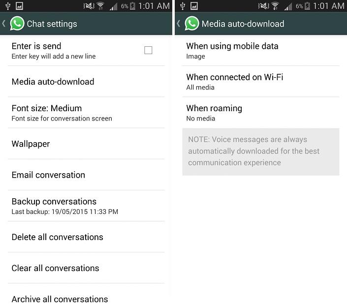 Managing Auto-download of Media 1