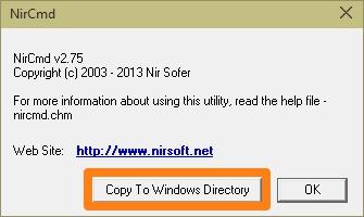 NirCmd Install