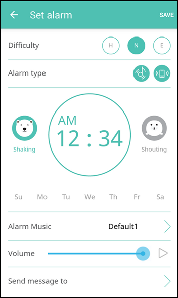 shake it alarm clock
