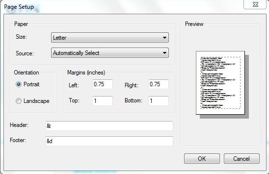 10. header footer dialog box