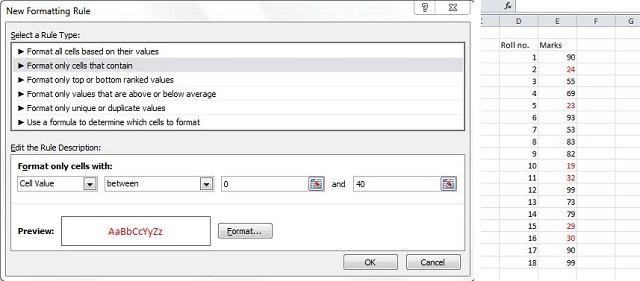12. formatting dialog box