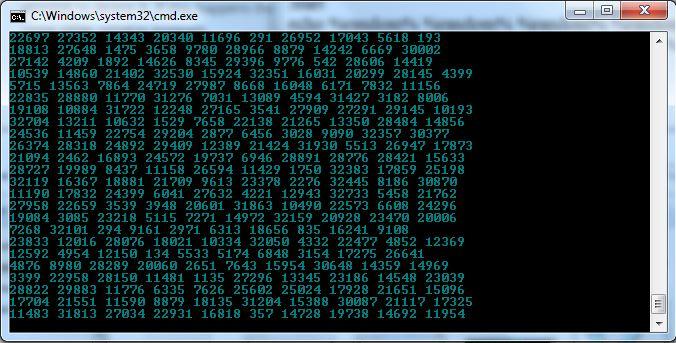 5. Matrix effect result blue
