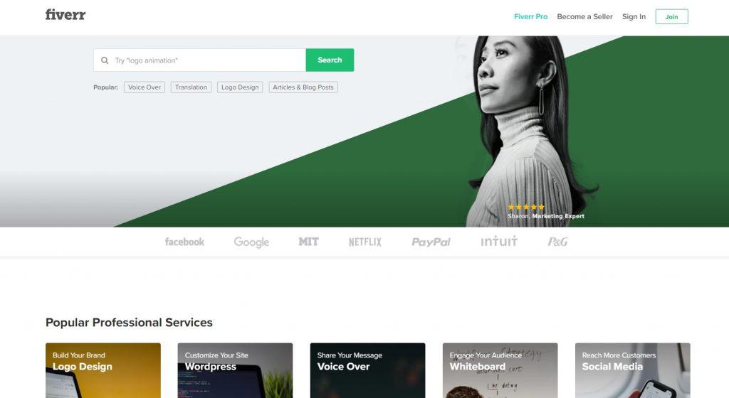 Fiverr - Best Freelancing Websites