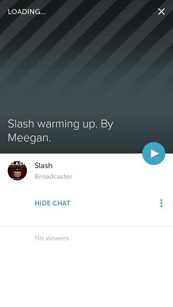 Periscope live stream
