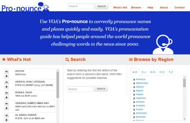 Pronounce by VOA news