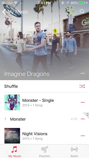 Music iOS9