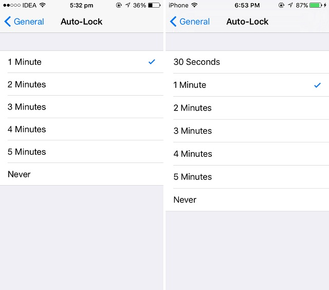 Auto-Lock iOS9