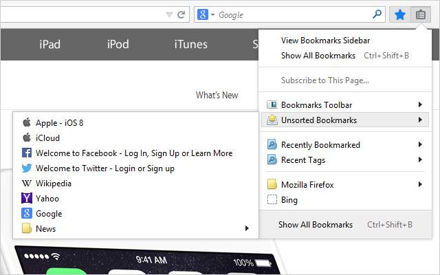 iCloud Bookmark manager