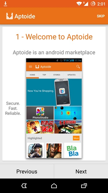 Aptoide App Store - альтернатива Google Play