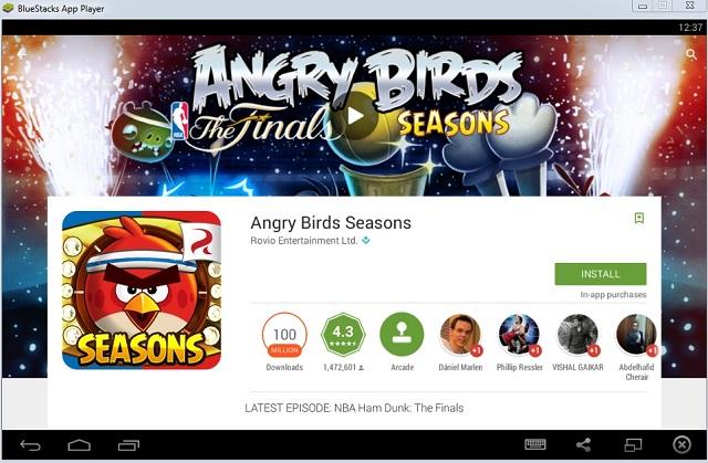 BlueStacks Angry Birds