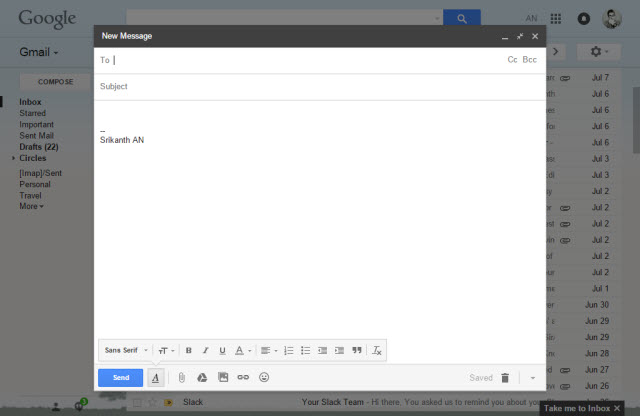 Gmail Web Application